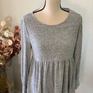 🕶5/$25 Cap Rognoso style-grey peplum dress pj top